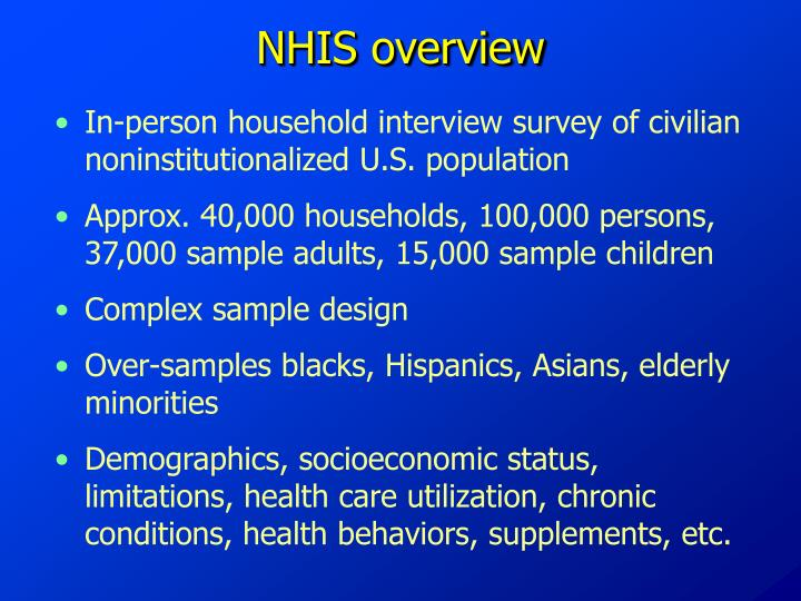NHIS overview