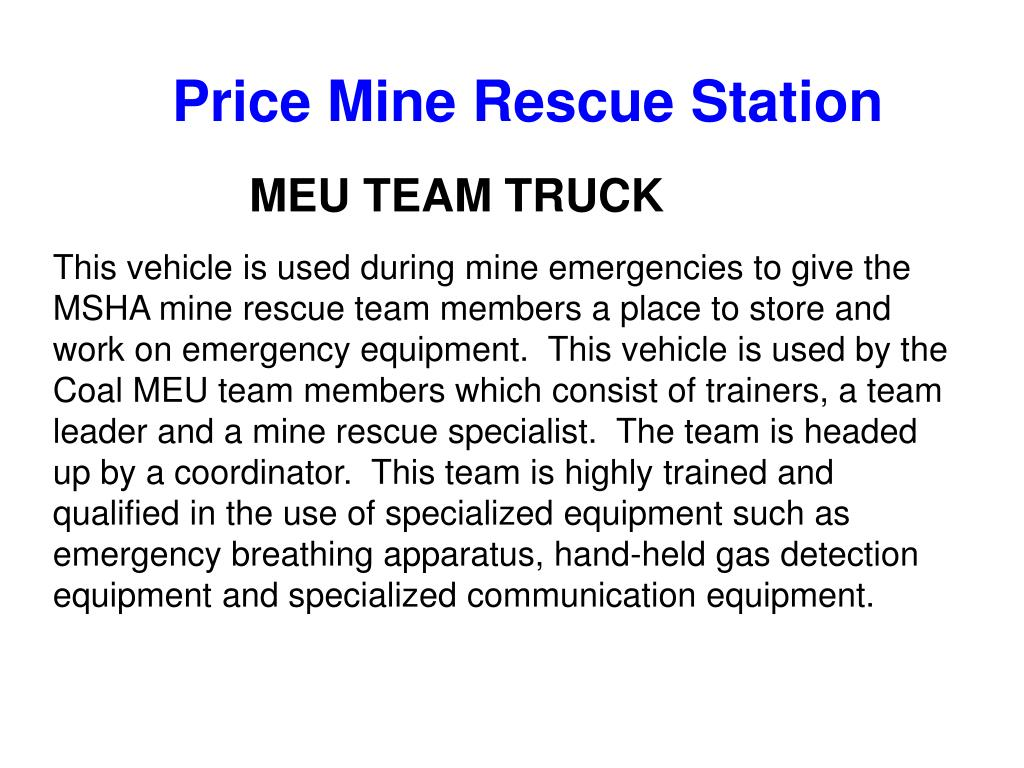 Price Mine Rescue Station