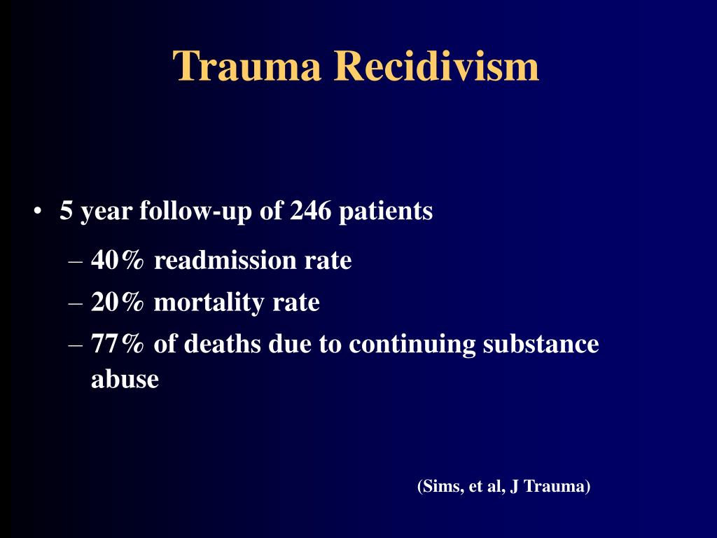Trauma Recidivism