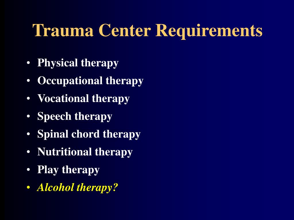 Trauma Center Requirements