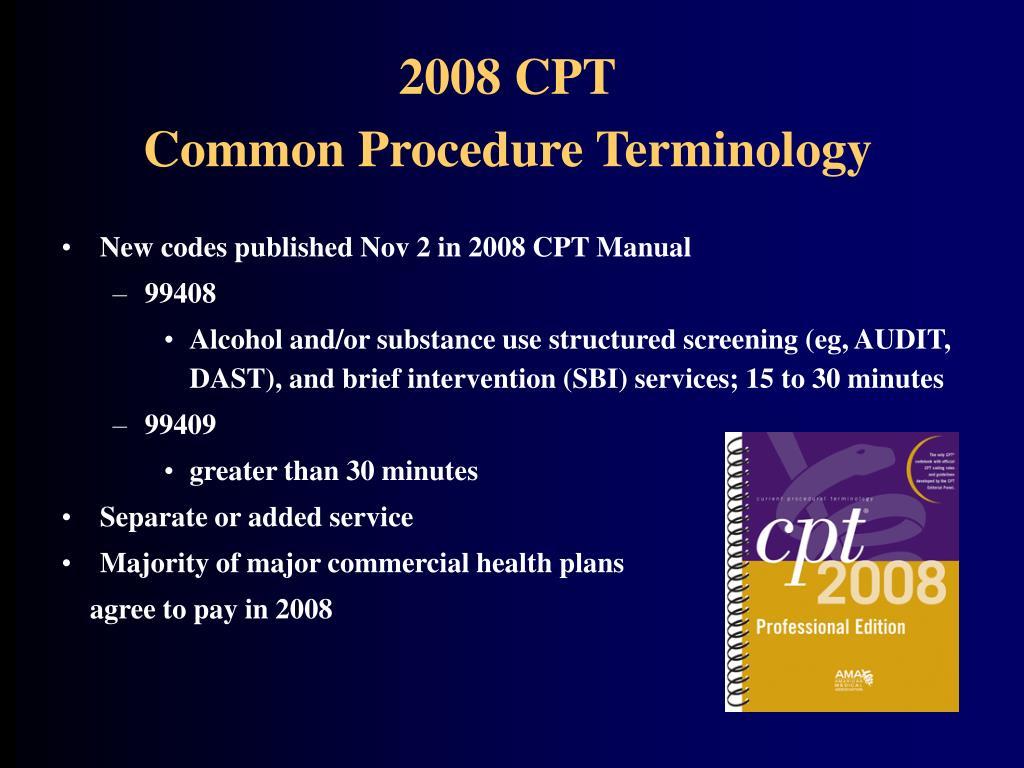 2008 CPT