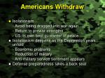 americans withdraw
