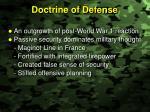 doctrine of defense