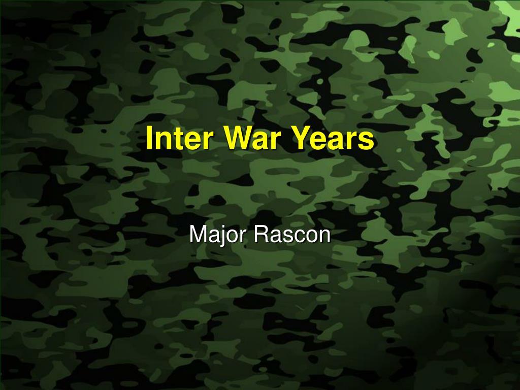 inter war years