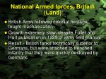 national armed forces britain land