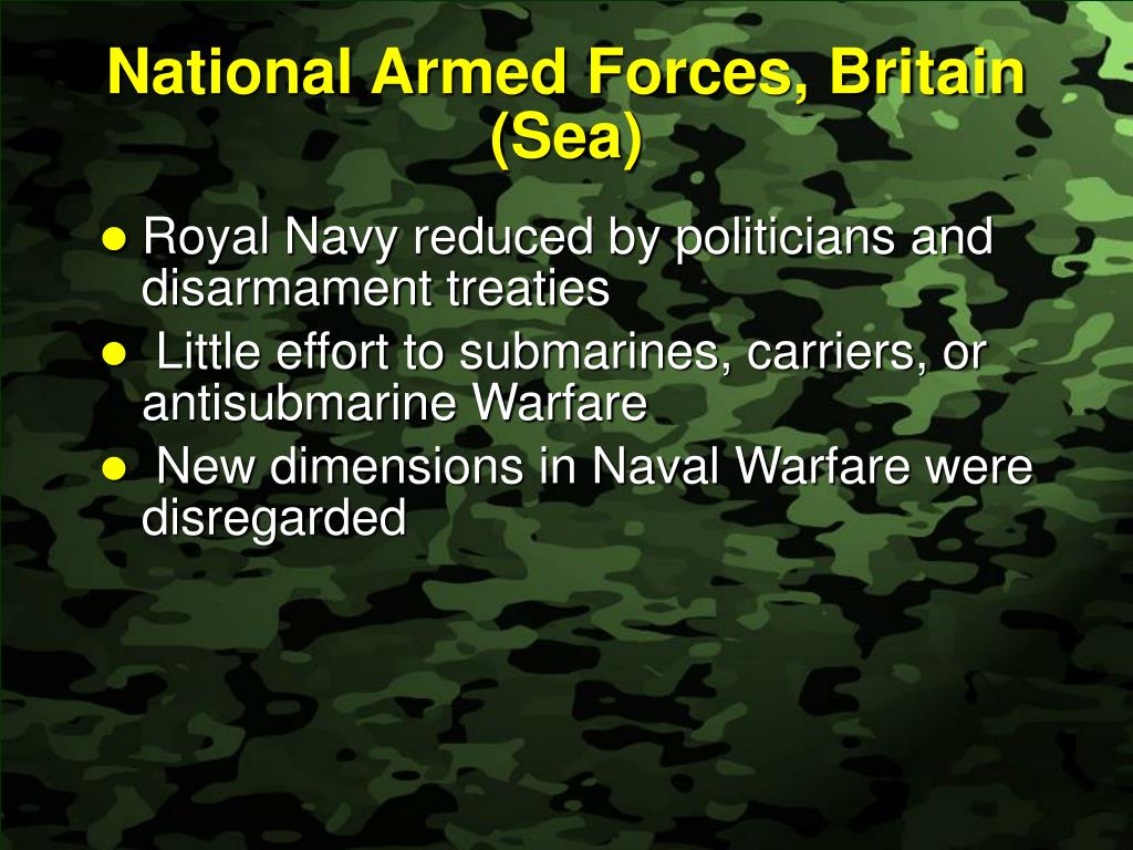 National Armed Forces, Britain (Sea)