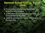 national armed forces britain sea