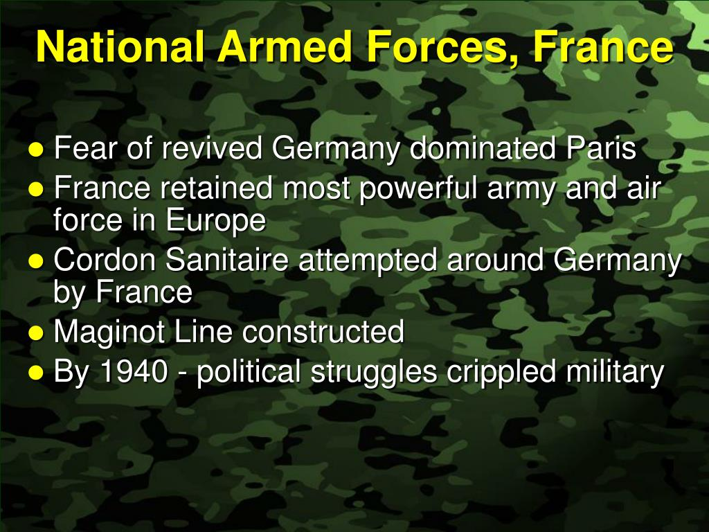 National Armed Forces, France