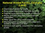 national armed forces germany land