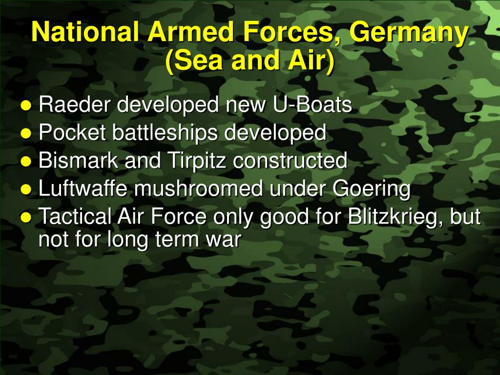 National Armed Forces, Germany (Sea and Air)