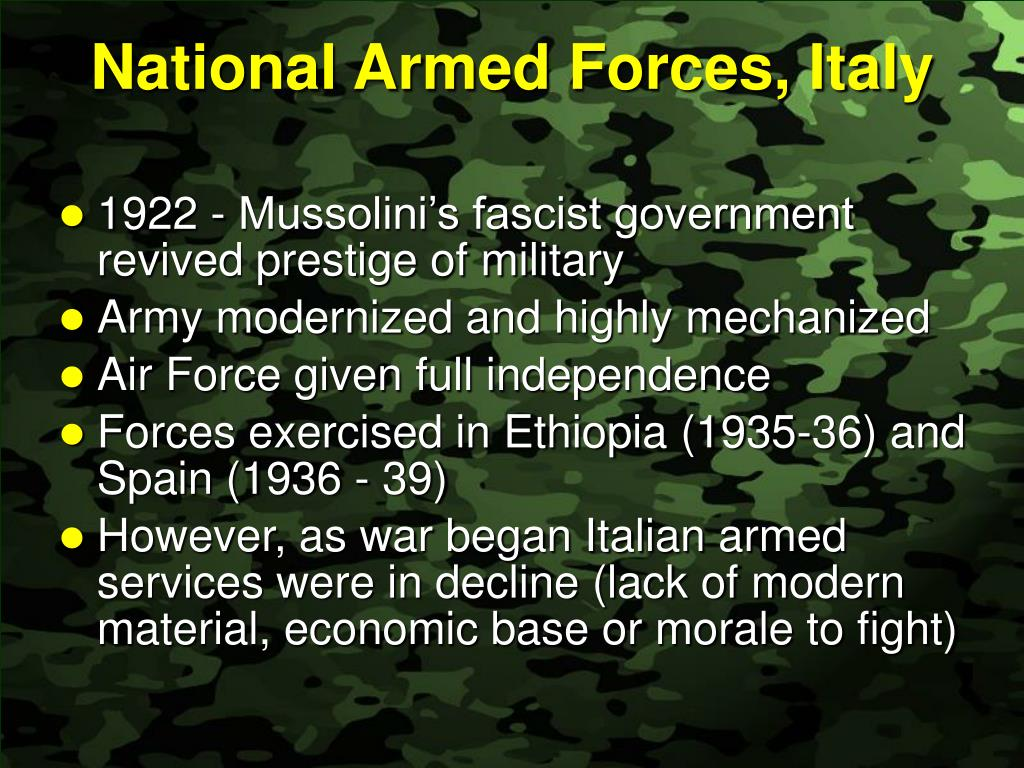 National Armed Forces, Italy