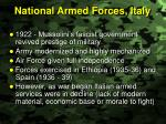 national armed forces italy