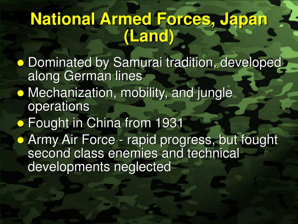 National Armed Forces, Japan (Land)