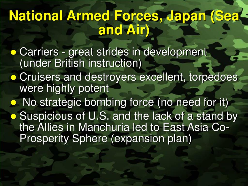 National Armed Forces, Japan (Sea and Air)