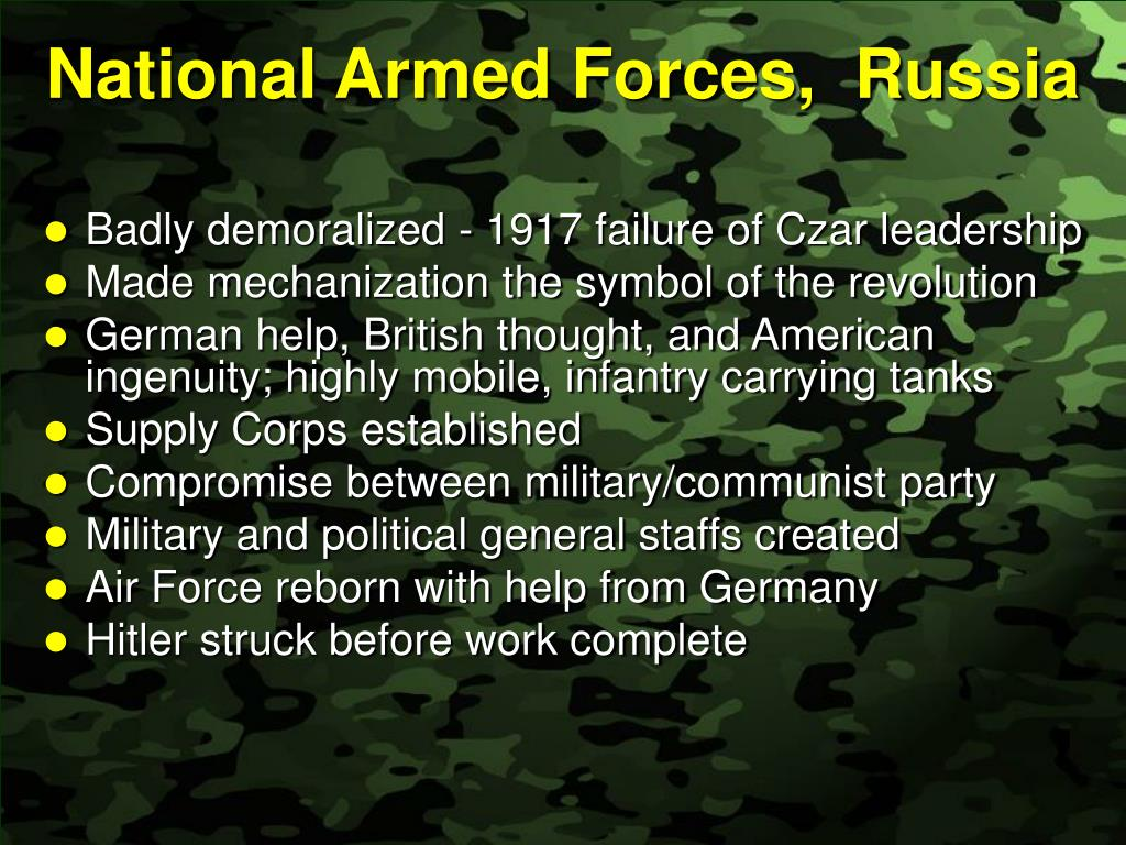 National Armed Forces,  Russia