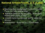 national armed forces u s land