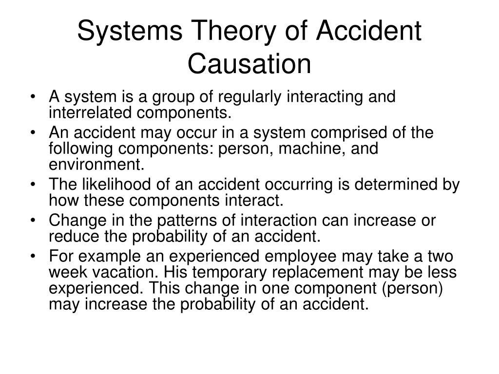 Systems Theory of Accident Causation