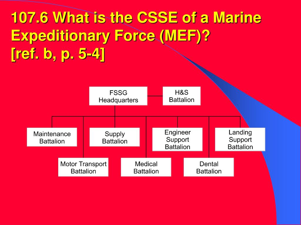 107.6 What is the CSSE of a Marine Expeditionary Force (MEF)?