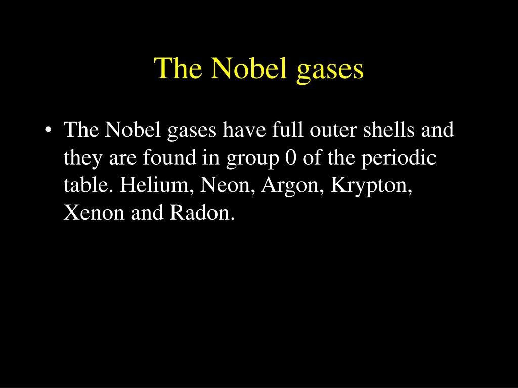 The Nobel gases