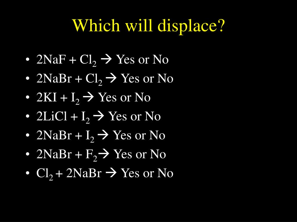 Which will displace?