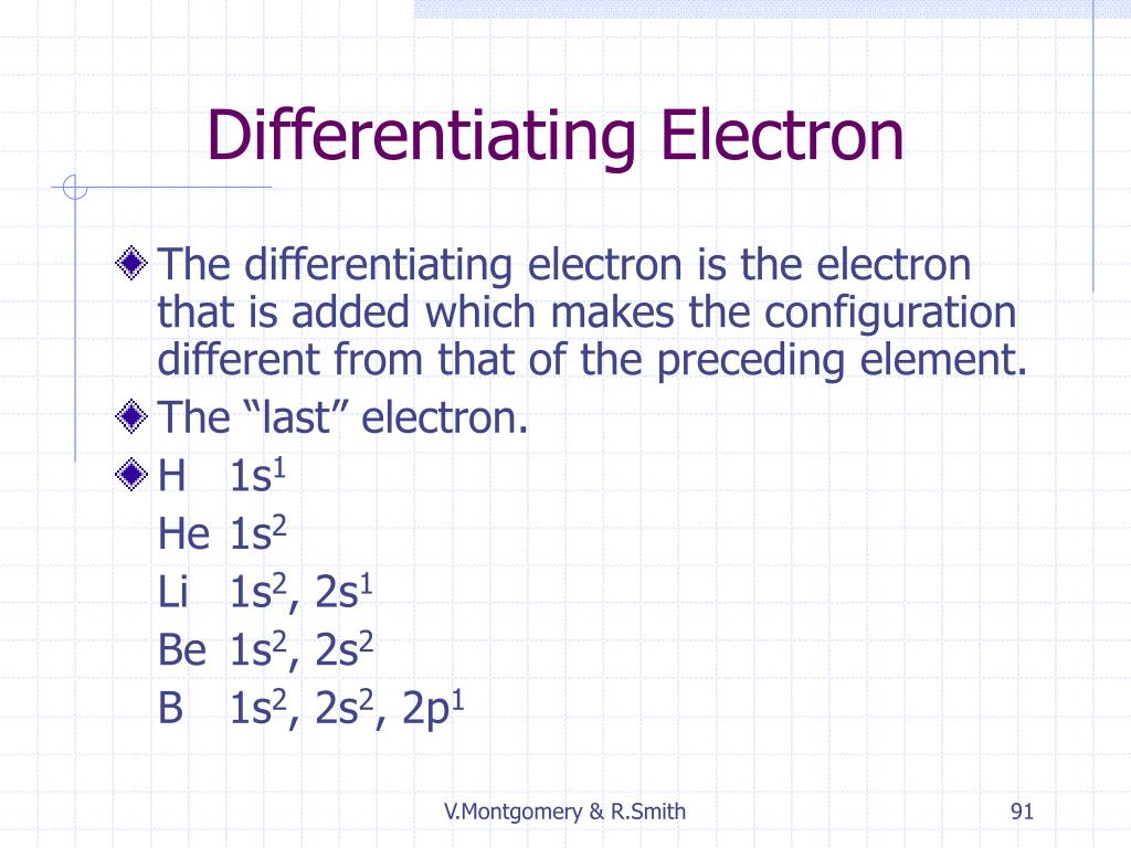 Differentiating Electron