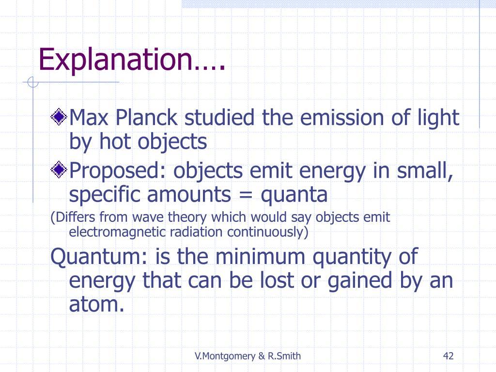 Explanation….