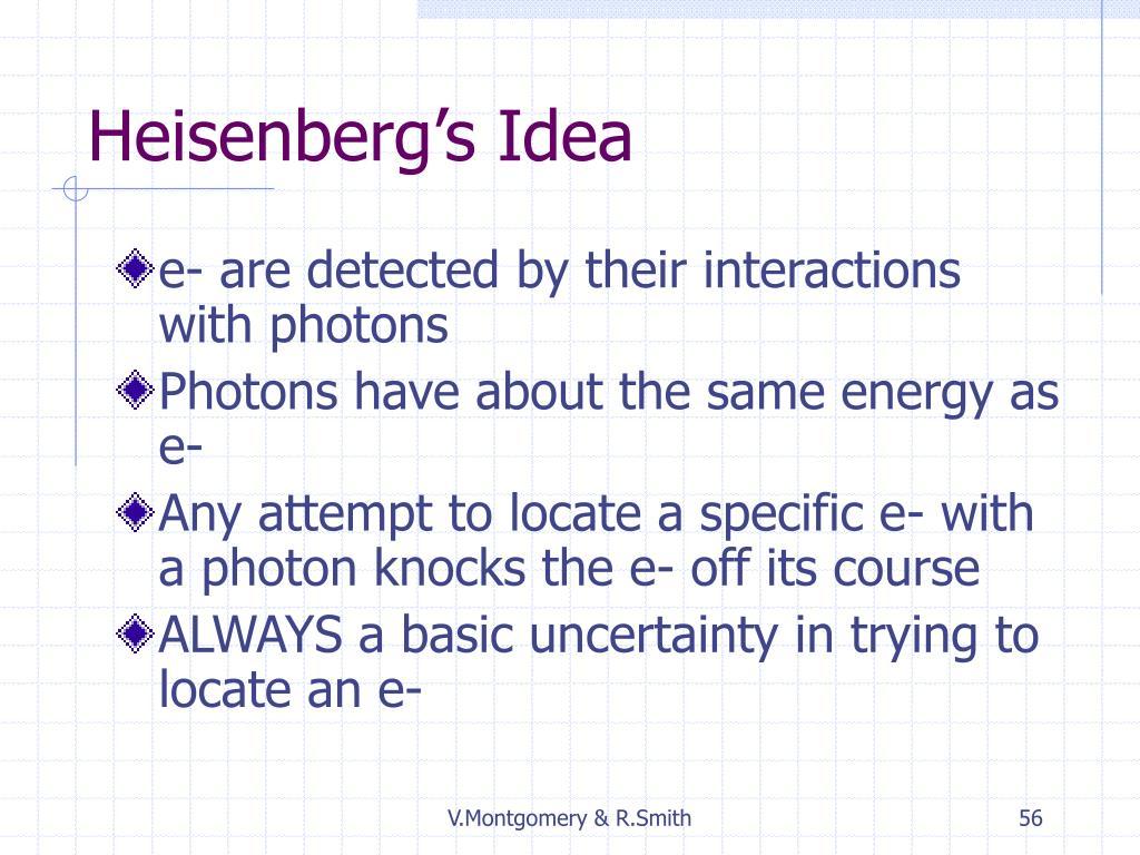 Heisenberg's Idea