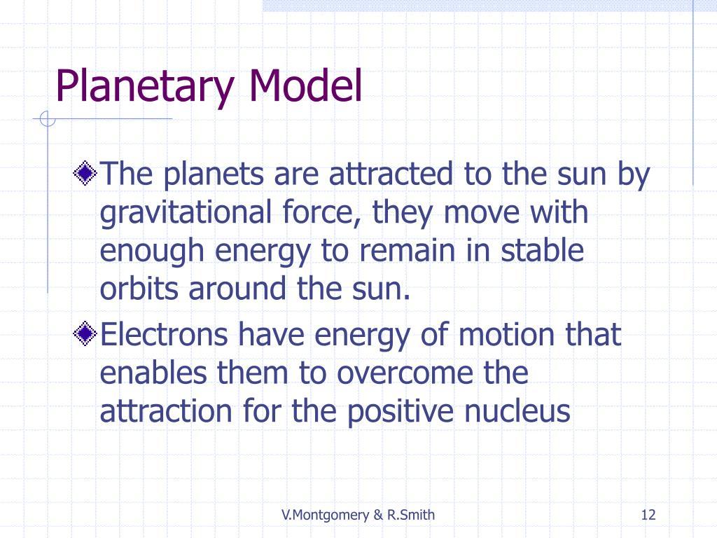 Planetary Model