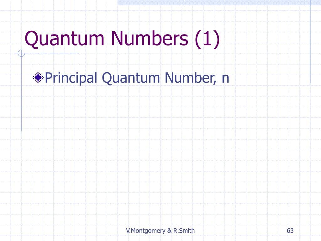 Quantum Numbers (1)
