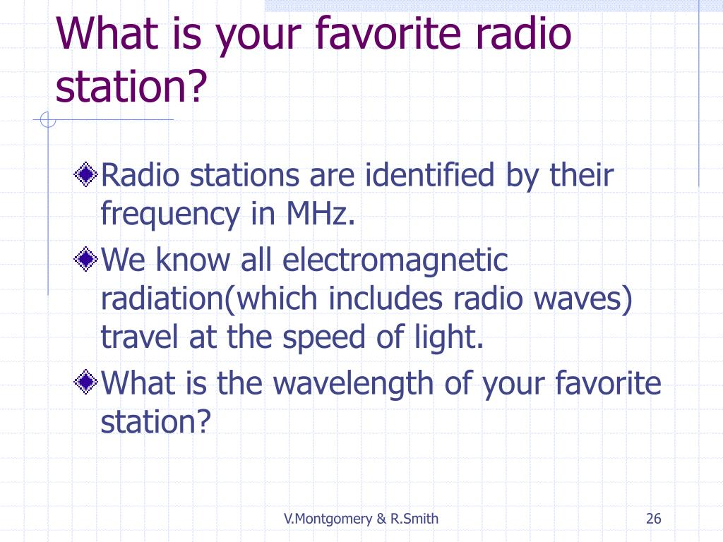 What is your favorite radio station?