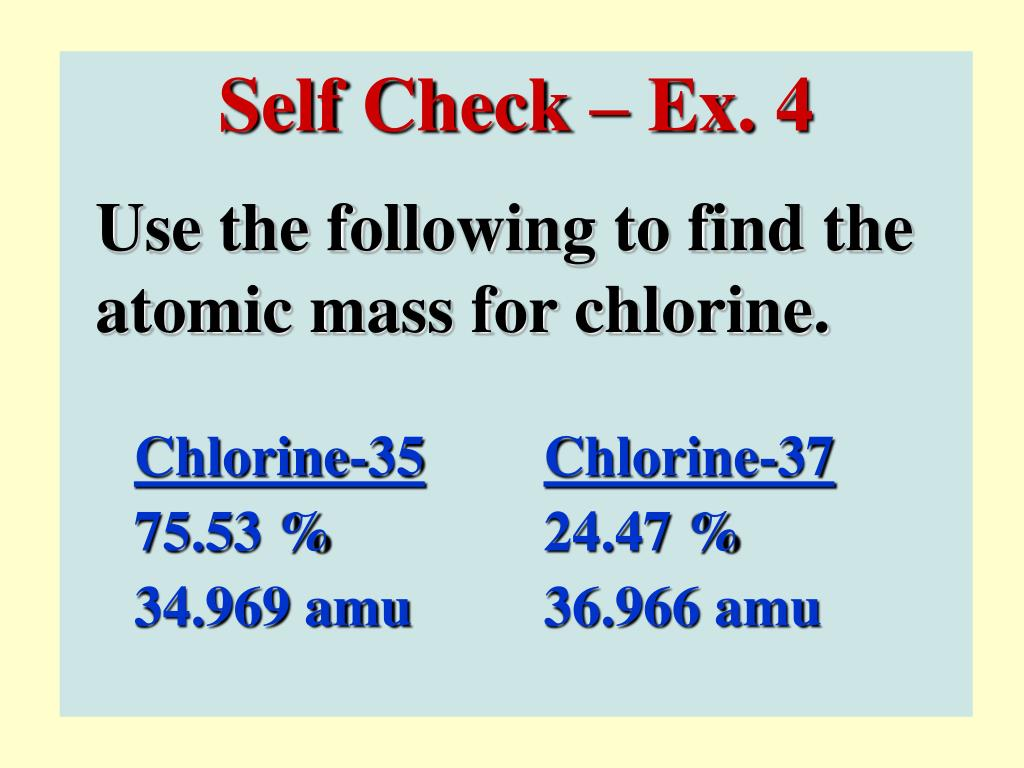 Self Check – Ex. 4