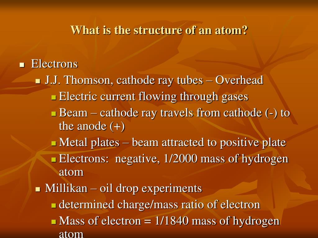 What is the structure of an atom?