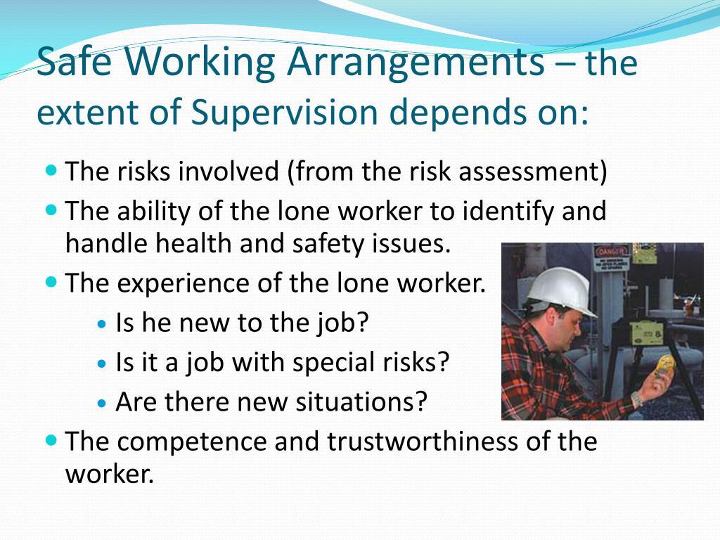 Safe Working Arrangements