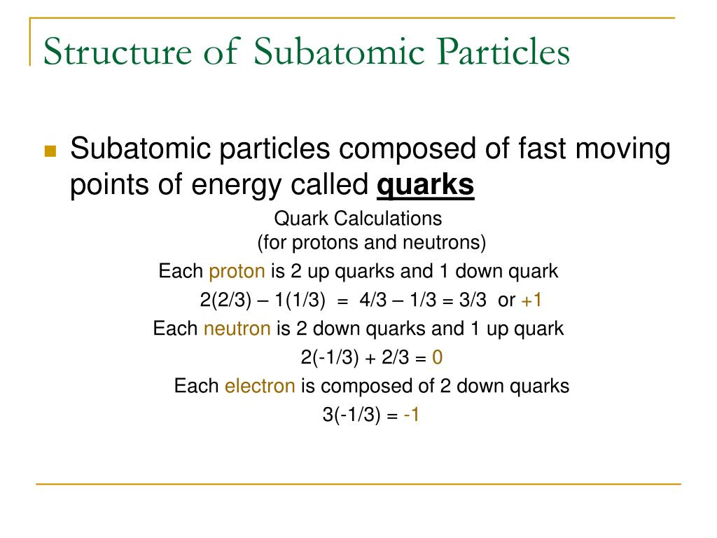 Structure of Subatomic Particles