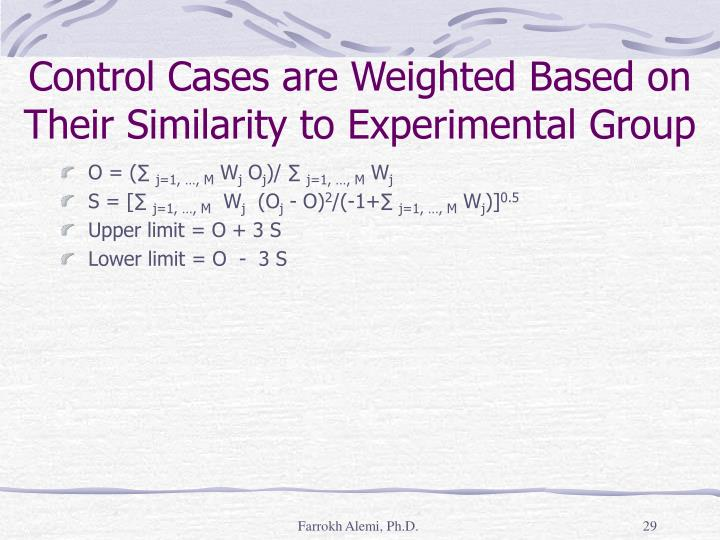 Control Cases are Weighted Based on Their Similarity to Experimental Group