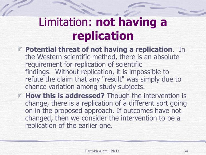 Limitation: