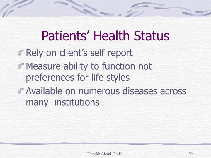 Patients' Health Status