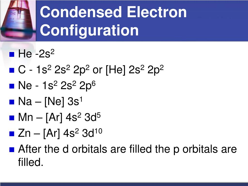 Condensed Electron Configuration