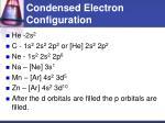 condensed electron configuration