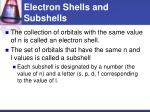 electron shells and subshells