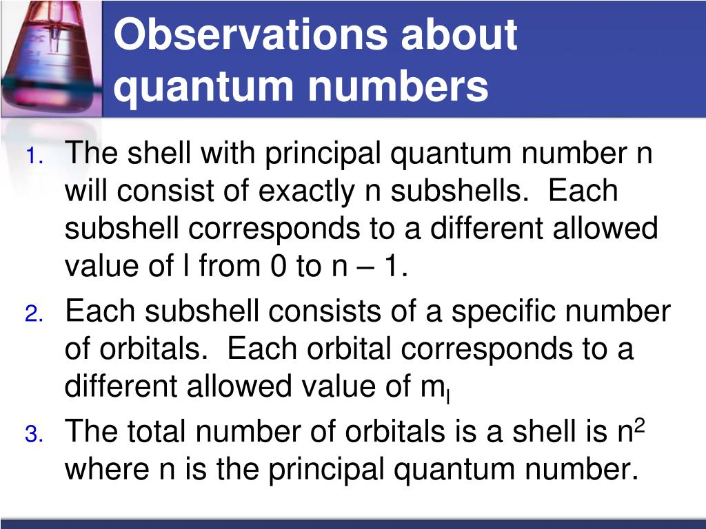 Observations about quantum numbers