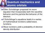 quantum mechanics and atomic orbitals