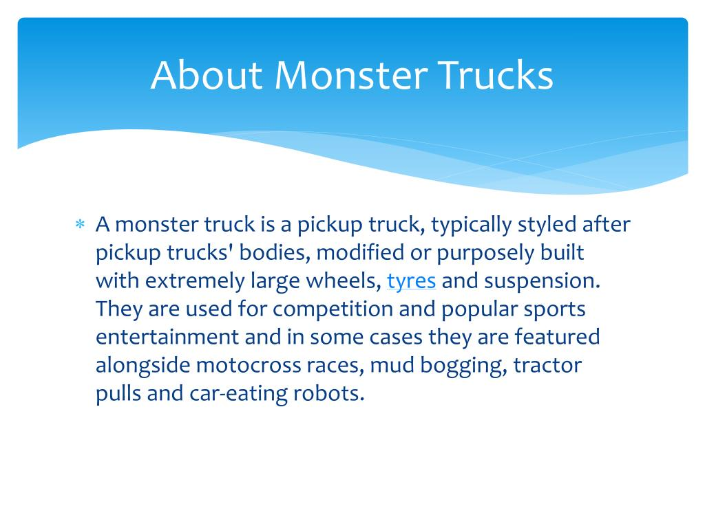 About Monster Trucks