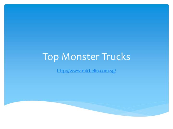 Top monster trucks