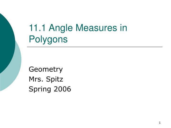 11 1 angle measures in polygons