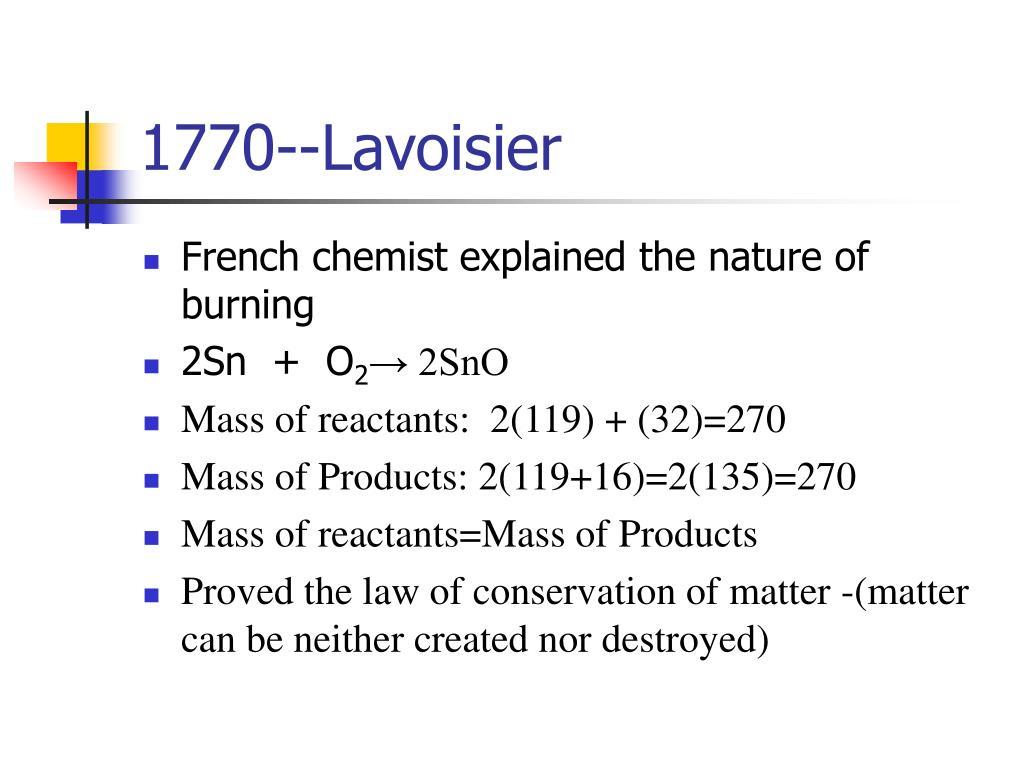 1770--Lavoisier