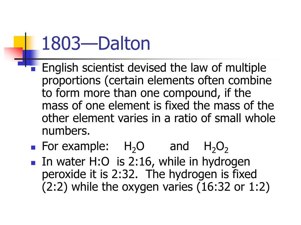 1803—Dalton