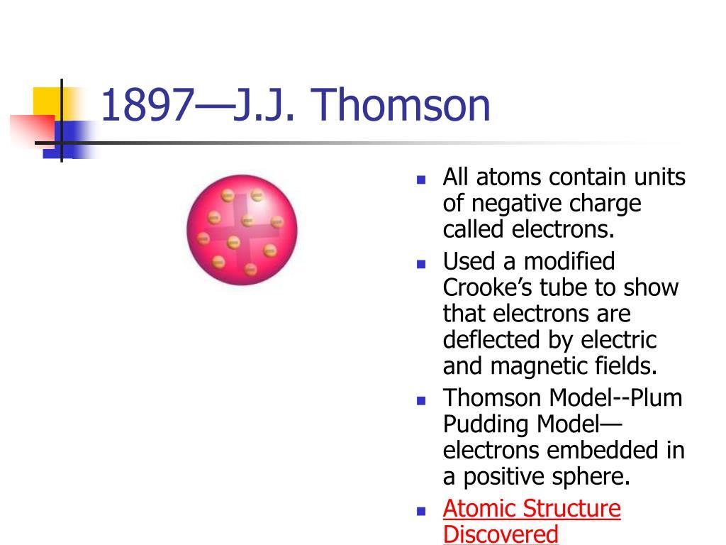 1897—J.J. Thomson