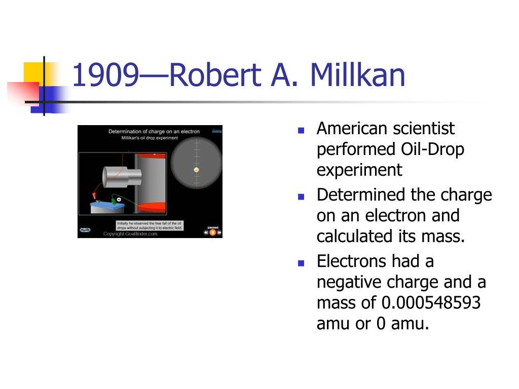 1909—Robert A. Millkan