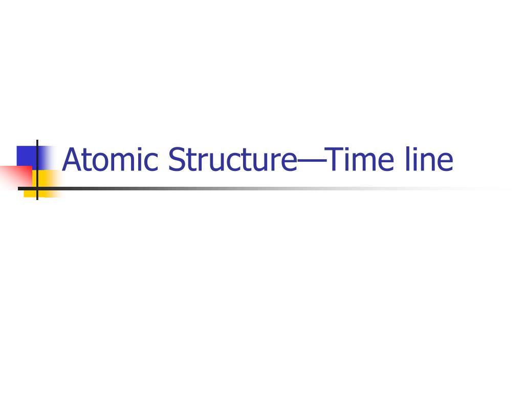 Atomic Structure—Time line